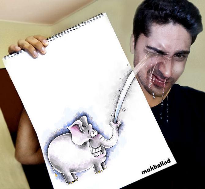 Mokhallad Habib é um farmacêutico que combinar desenhos com a vida real para fazer outras pessoas sorrir (20 fotos) 10