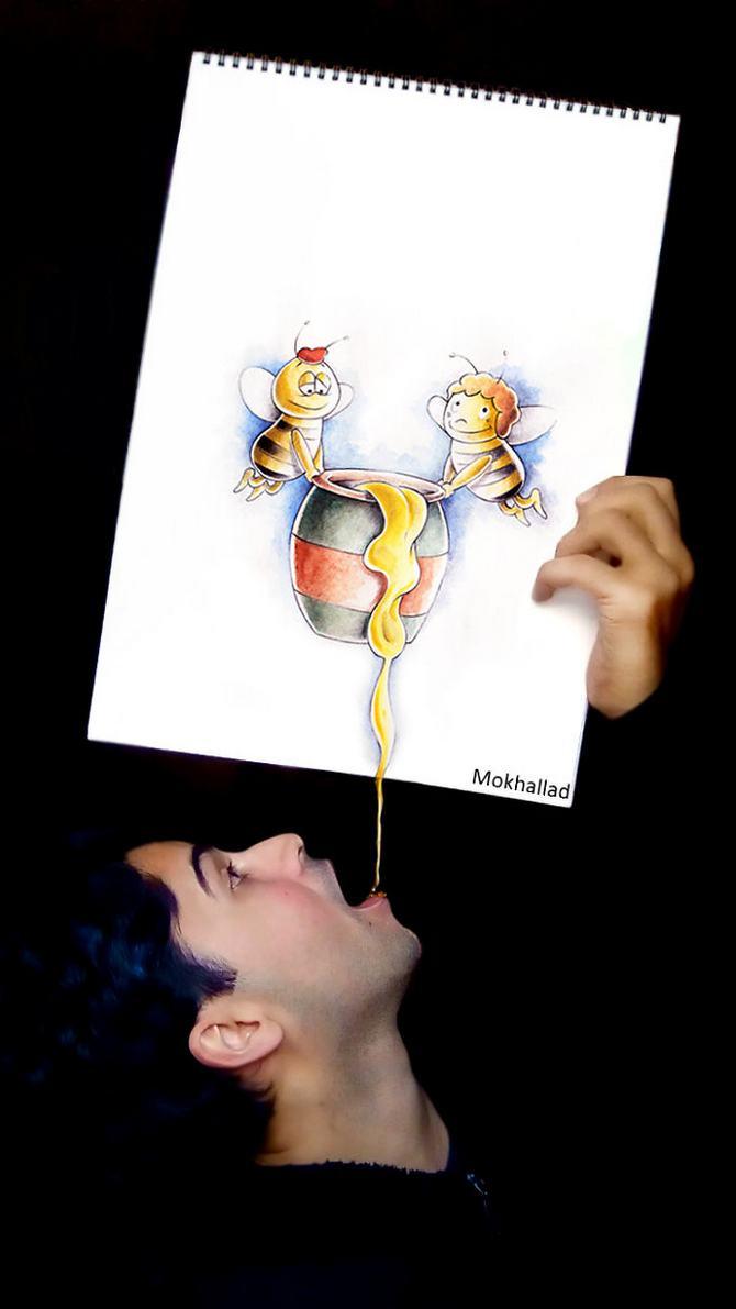 Mokhallad Habib é um farmacêutico que combinar desenhos com a vida real para fazer outras pessoas sorrir (20 fotos) 11
