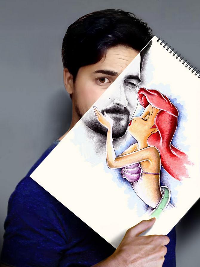 Mokhallad Habib é um farmacêutico que combinar desenhos com a vida real para fazer outras pessoas sorrir (20 fotos) 14