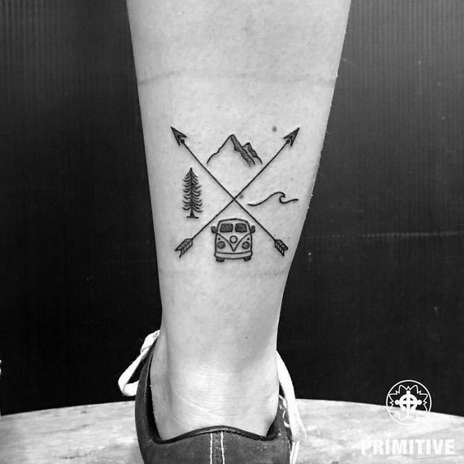 30 ideias de tatuagem de viagem que o farão querer fazer 3