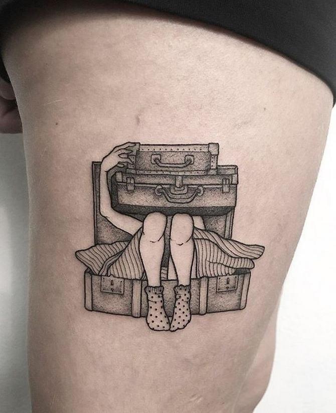 30 ideias de tatuagem de viagem que o farão querer fazer 19