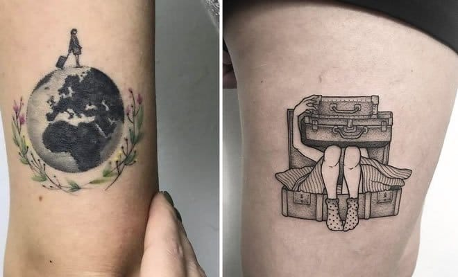 30 ideias de tatuagem de viagem que o farão querer fazer 29