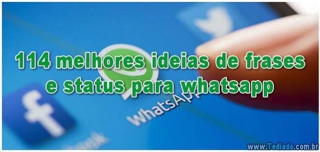 114 Melhores Ideias De Frases E Status Para Whatsapp Blog Tediado