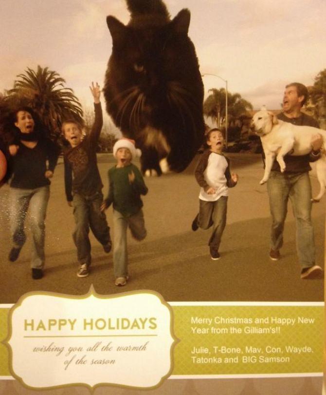 29 pessoas que enviaram os mais divertidos cartões de Natal de todos os tempos 11