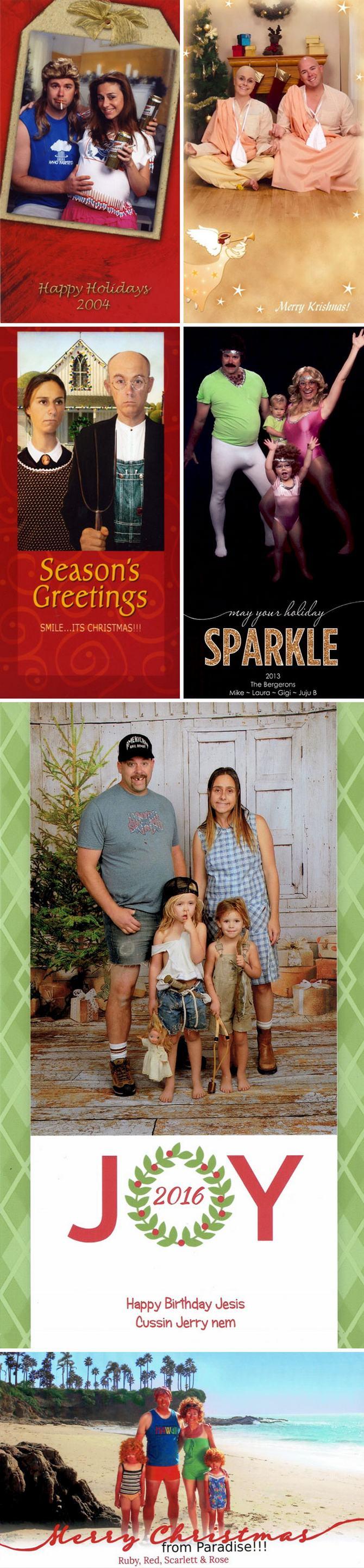 29 pessoas que enviaram os mais divertidos cartões de Natal de todos os tempos 28