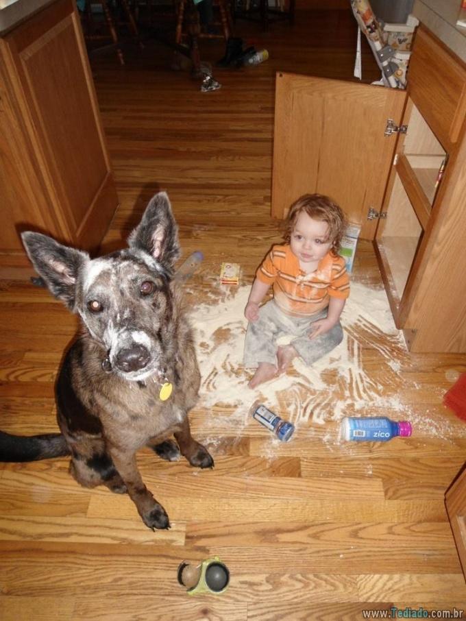 19 vezes que seus filhos e animais de estimação estavam junto 10