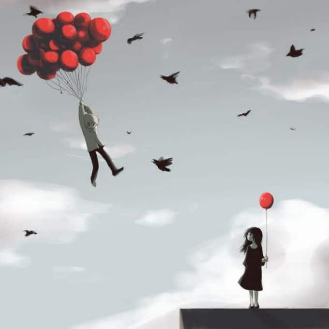 Ilustrações poderosas por artista japonês que o fará pensar (40 fotos) 18