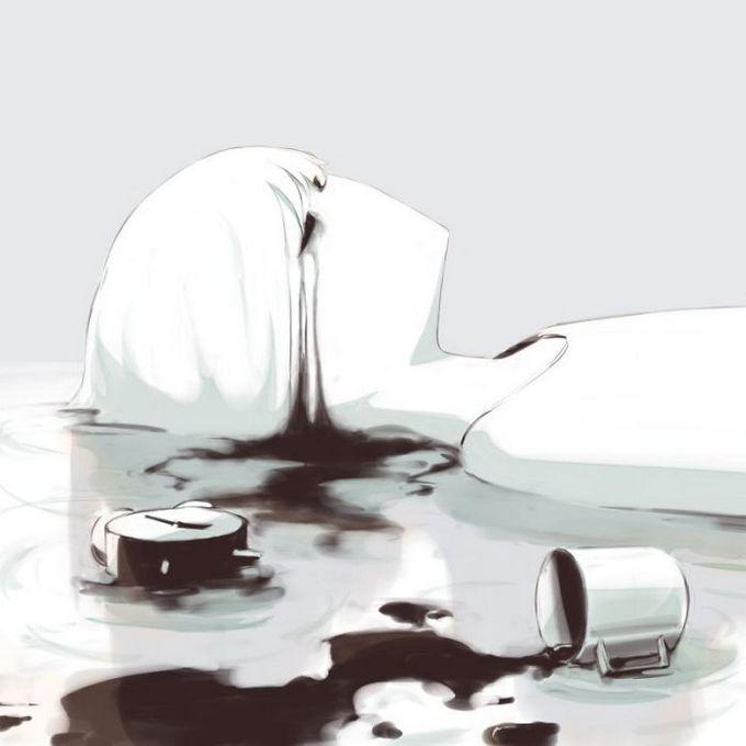Ilustrações poderosas por artista japonês que o fará pensar (40 fotos) 19
