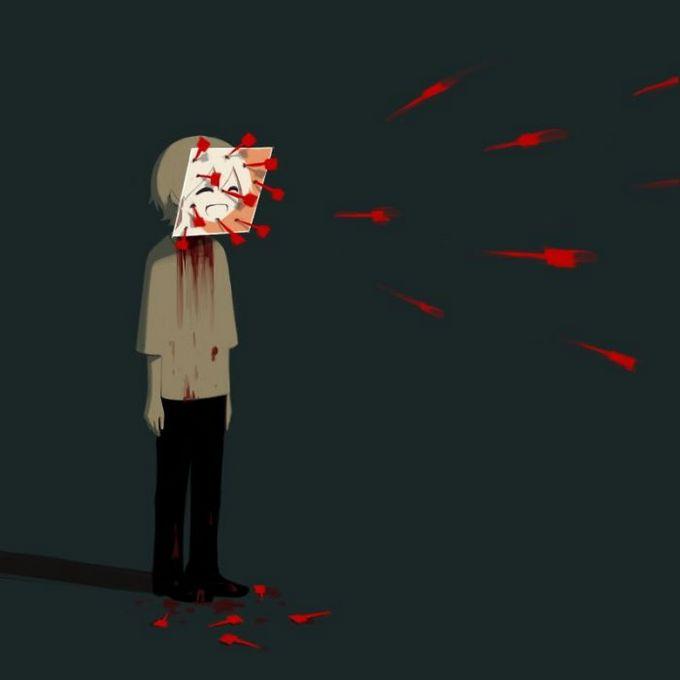 Ilustrações poderosas por artista japonês que o fará pensar (40 fotos) 34