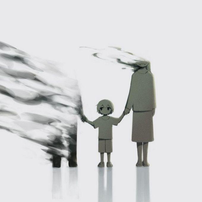 Ilustrações poderosas por artista japonês que o fará pensar (40 fotos) 36