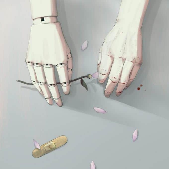 Ilustrações poderosas por artista japonês que o fará pensar (40 fotos) 40