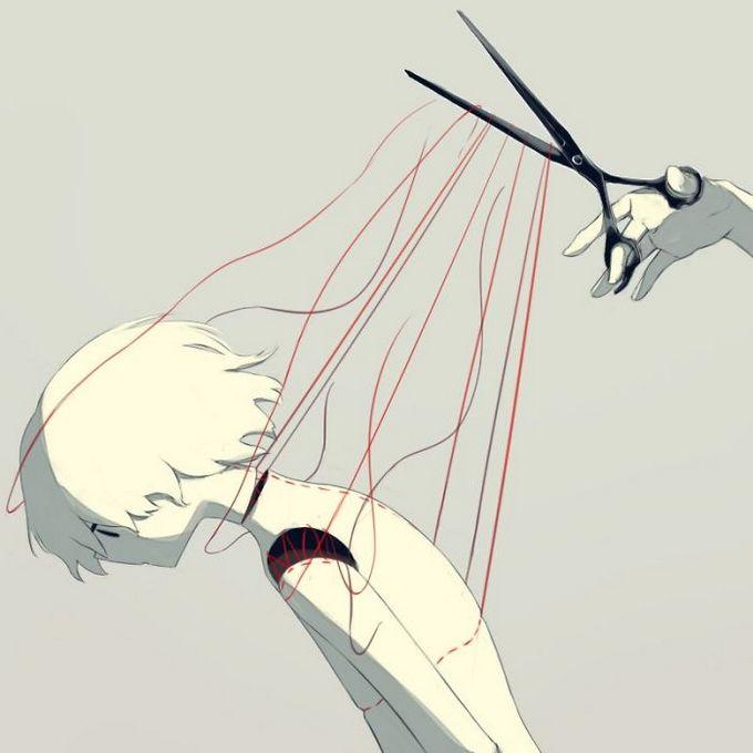 Ilustrações poderosas por artista japonês que o fará pensar (40 fotos) 41
