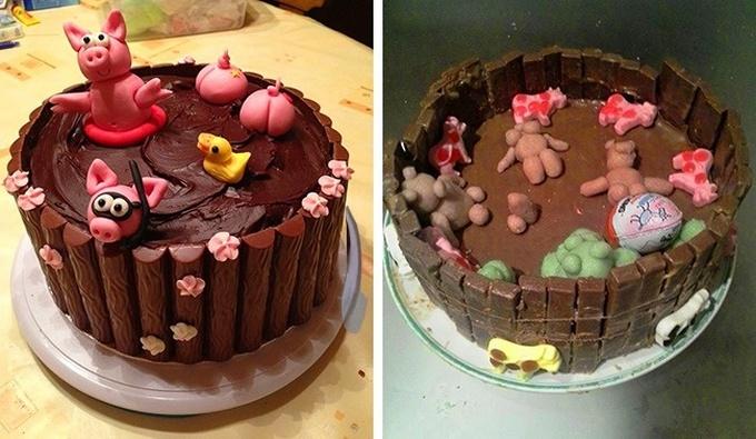 18 bolos engraçados que poderiam ganhar um prêmio da pior sobremesa já feita 5