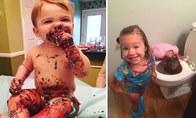 A felicidade das crianças depois de fazer sua arte (28 fotos) 5
