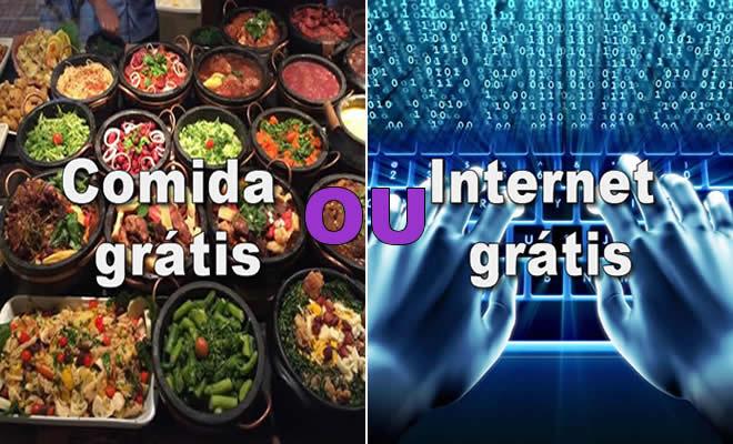 O que você prefere #19 - Internet ou Comida grátis 6