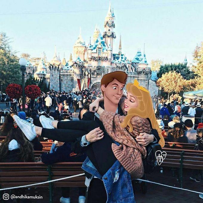 Artista coloca personagens da Disney em fotos de celebridades (44 fotos) 7