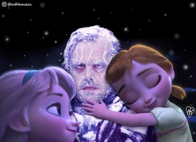Artista coloca personagens da Disney em fotos de celebridades (44 fotos) 14