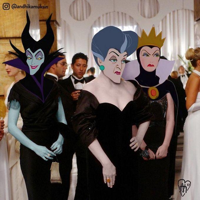Artista coloca personagens da Disney em fotos de celebridades (44 fotos) 27