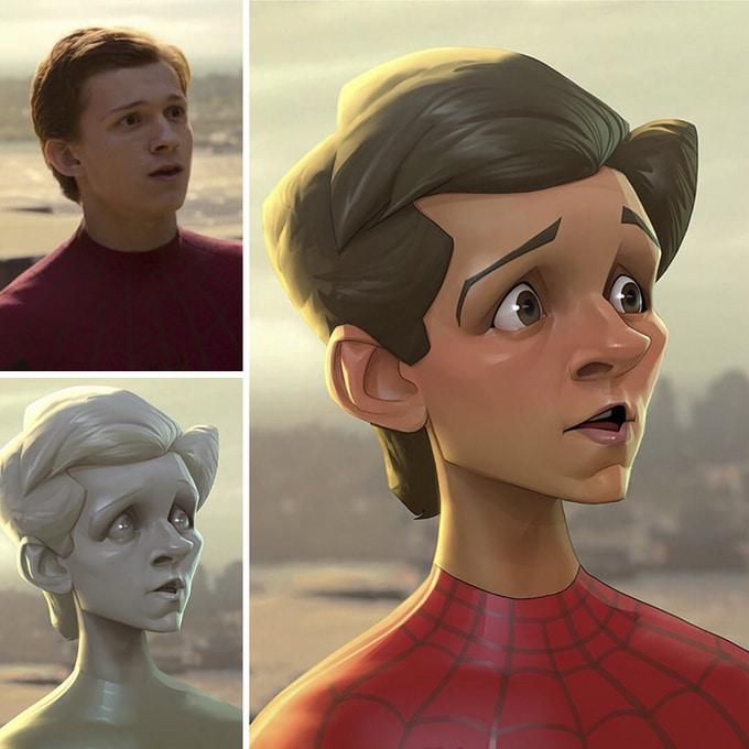 Este artista transforma personagens de filmes em desenhos animados (14 fotos) 2
