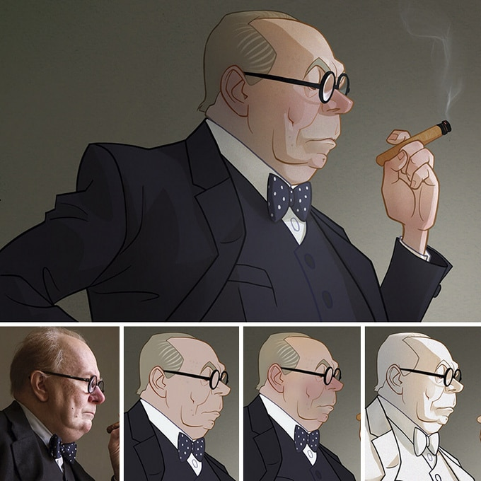 Este artista transforma personagens de filmes em desenhos animados (14 fotos) 3