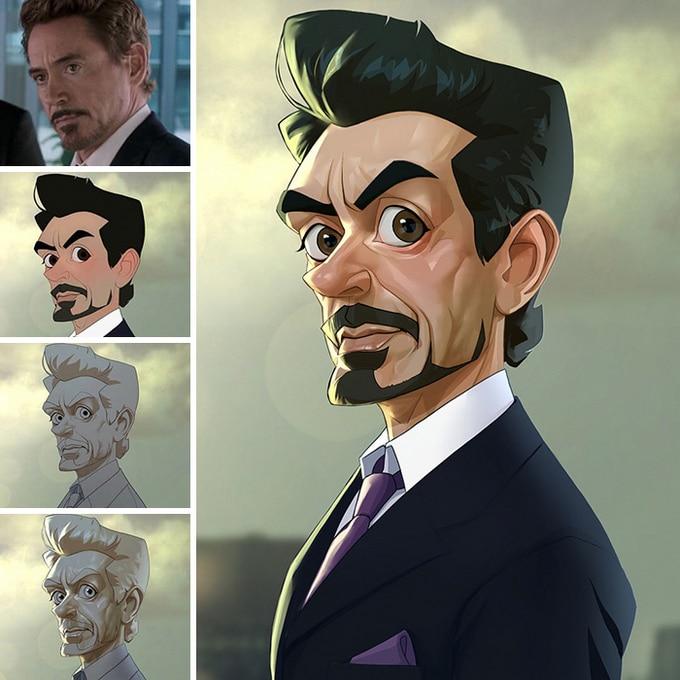Este artista transforma personagens de filmes em desenhos animados (14 fotos) 6
