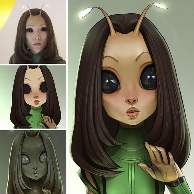 Este artista transforma personagens de filmes em desenhos animados (14 fotos) 7