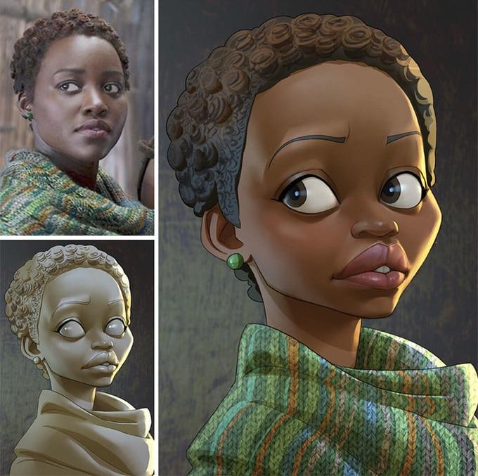 Este artista transforma personagens de filmes em desenhos animados (14 fotos) 10