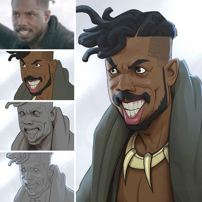 Este artista transforma personagens de filmes em desenhos animados (14 fotos) 12