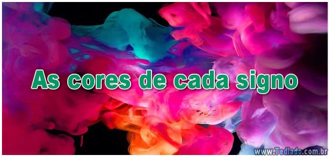As cores de cada signo