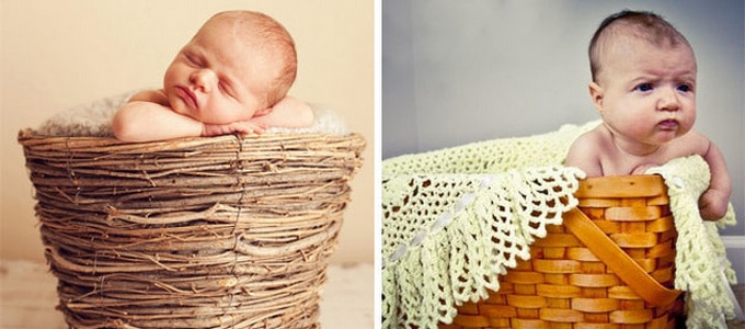 Expectativa vs realidade: Sessão de fotos com bebês (14 fotos) 2