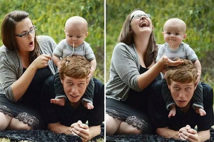 Expectativa vs realidade: Sessão de fotos com bebês (14 fotos) 6