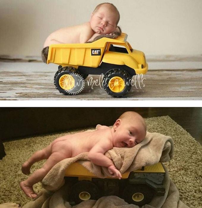 Expectativa vs realidade: Sessão de fotos com bebês (14 fotos) 11
