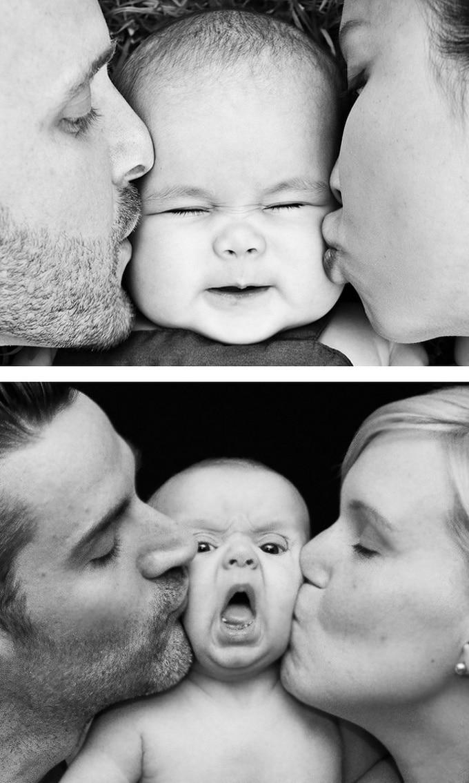 Expectativa vs realidade: Sessão de fotos com bebês (14 fotos) 12