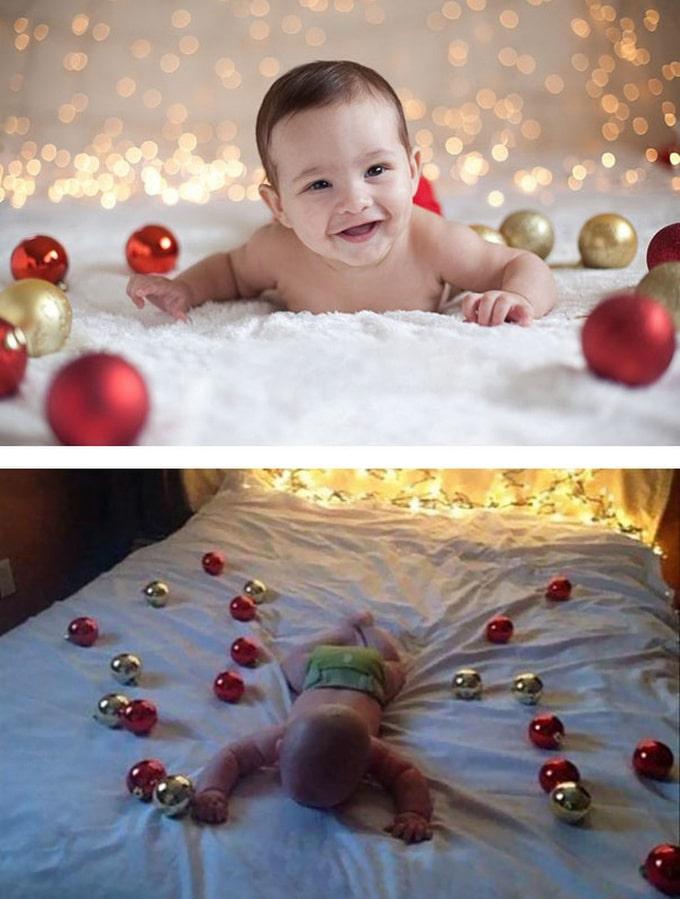 Expectativa vs realidade: Sessão de fotos com bebês (14 fotos) 14