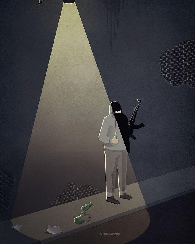 31 ilustrações sobre a triste verdade da vida moderna 6