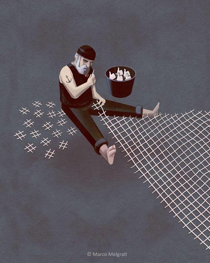 31 ilustrações sobre a triste verdade da vida moderna 9