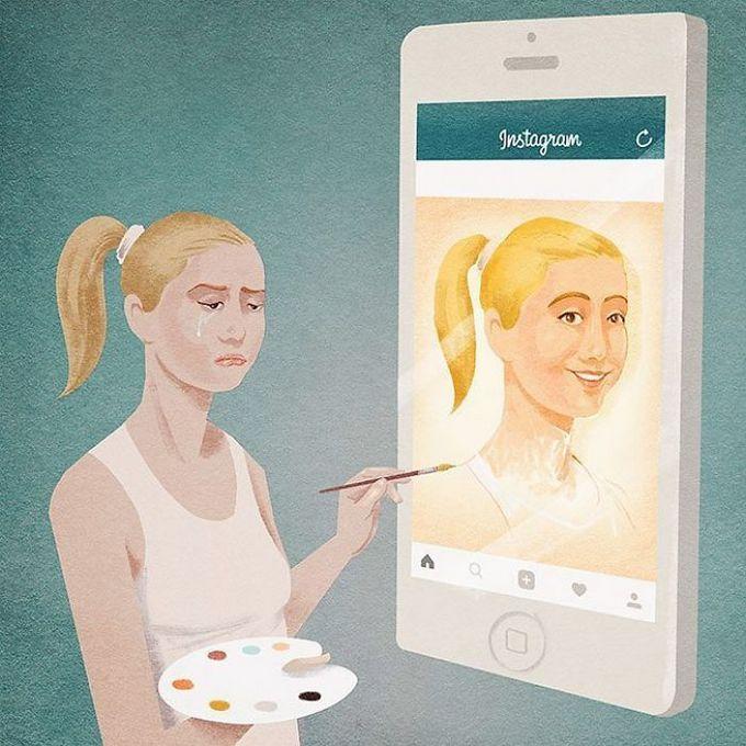 31 ilustrações sobre a triste verdade da vida moderna 15