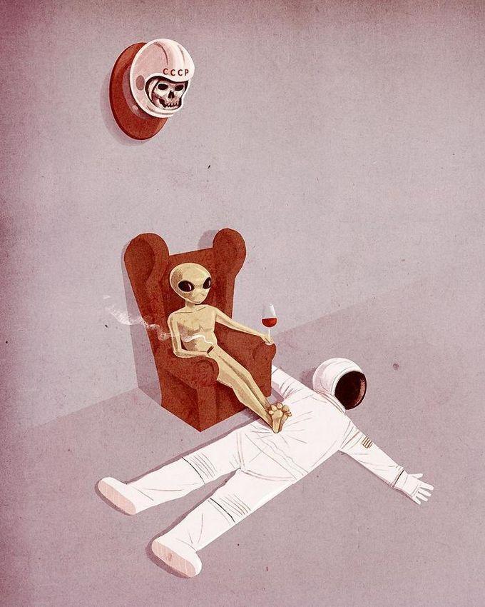 31 ilustrações sobre a triste verdade da vida moderna 16