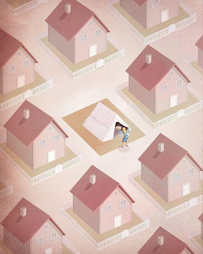 31 ilustrações sobre a triste verdade da vida moderna 24