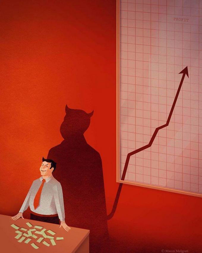 31 ilustrações sobre a triste verdade da vida moderna 28