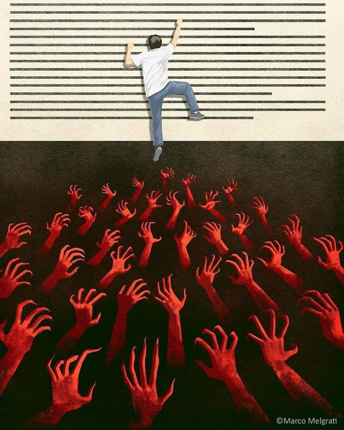 31 ilustrações sobre a triste verdade da vida moderna 31
