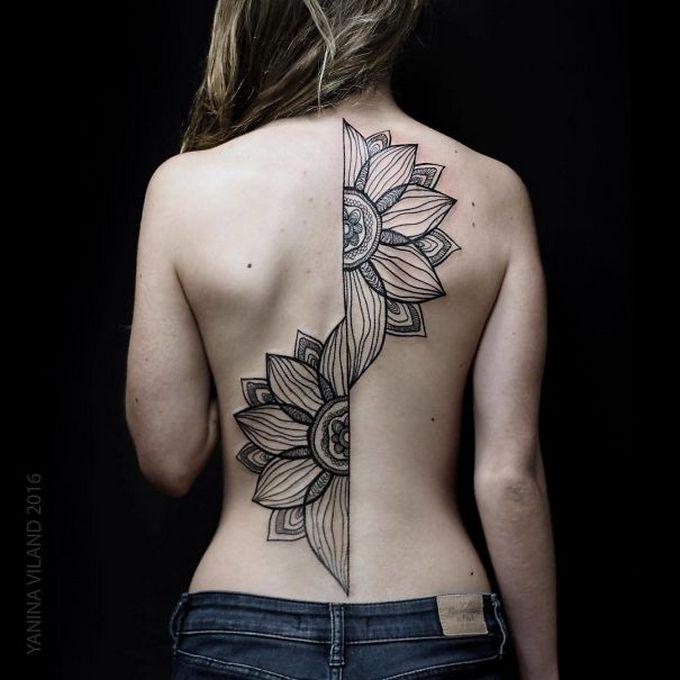 33 inspirações de tatuagem para fazer na coluna 16
