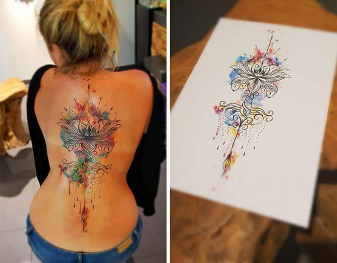 33 inspirações de tatuagem para fazer na coluna 22