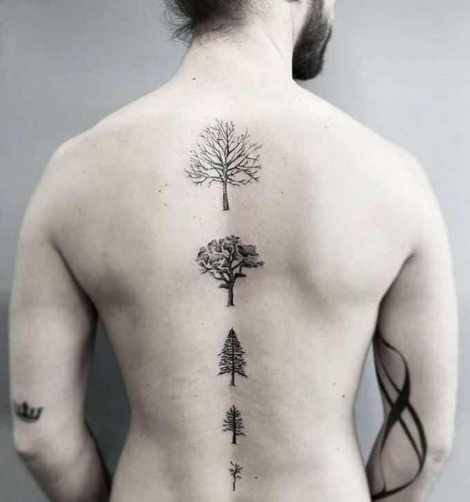 33 inspirações de tatuagem para fazer na coluna 34