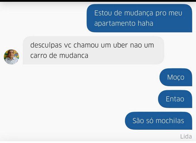 30 prints de conversar entre motorista de Uber e seus clientes 15