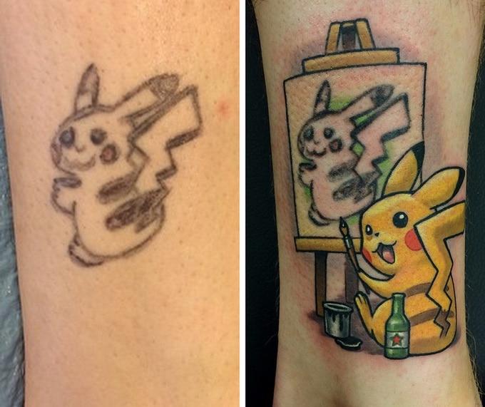 Qualquer tatuagem ruim pode ser transformada em uma pequena obra-prima (17 fotos) 4