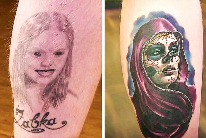 Qualquer tatuagem ruim pode ser transformada em uma pequena obra-prima (17 fotos) 6