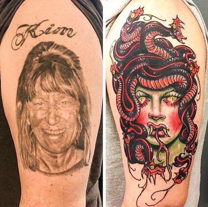 Qualquer tatuagem ruim pode ser transformada em uma pequena obra-prima (17 fotos) 8