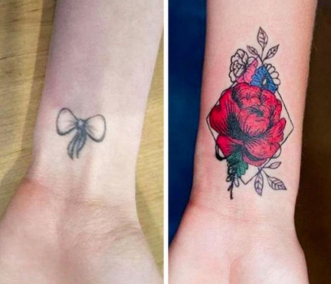 Qualquer tatuagem ruim pode ser transformada em uma pequena obra-prima (17 fotos) 9