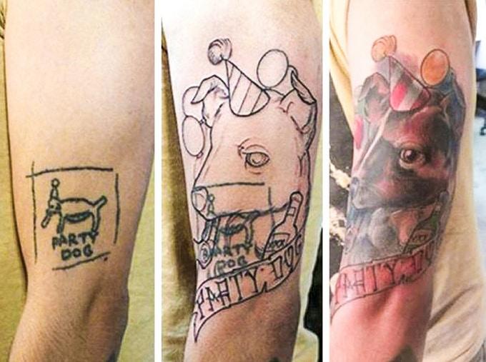 Qualquer tatuagem ruim pode ser transformada em uma pequena obra-prima (17 fotos) 10